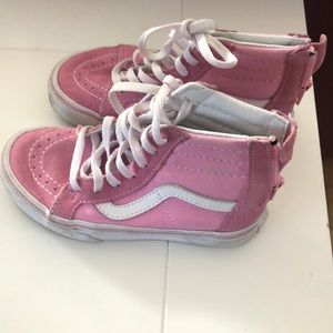 Girl size 12 pink vans- gently used